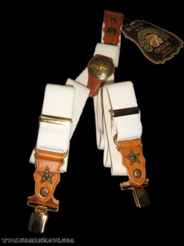 Bretelle elastico bianco