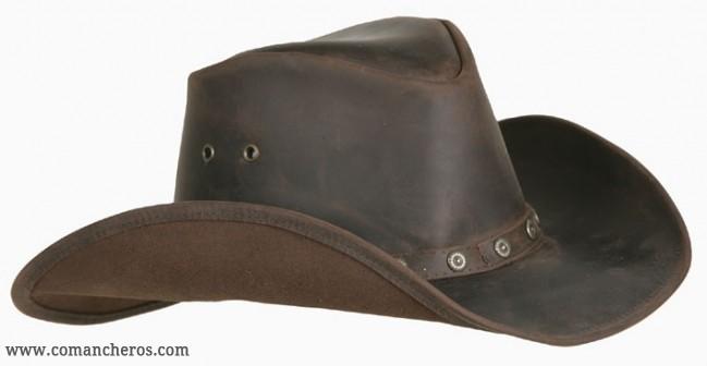 Cappello Cuoio Western in cuoio marrone COMANCHEROS f726a438812e