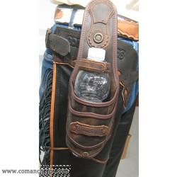portabottiglia da cintura in cuoio