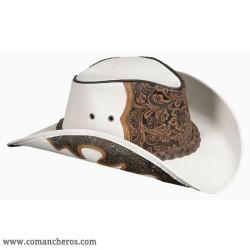 Cappello pelle bianco charro