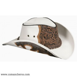 Cappello Country Pelle floreale