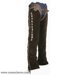 Chaps in camoscio marrone