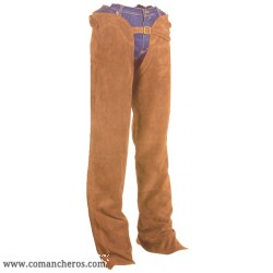 Chaps Western in Pelle Scamosciata