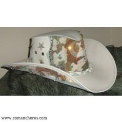 Cappello Western in Cuoio con Swarovski