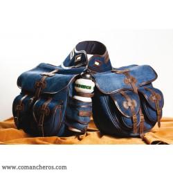 Bisaccia grande  posteriore in Jeans per sella Trekking