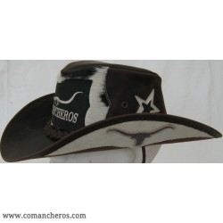 Cappello Western in Cuoio con Long Horn