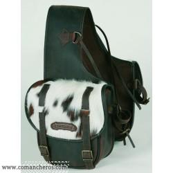 Bisaccia per sella cavallo media posteriore per Trekking con pelo di vitello