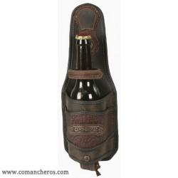 Porta bottiglia pelle vecchio western