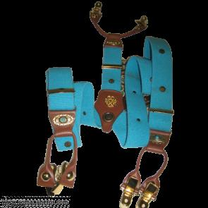 Bretelle elastico turchese