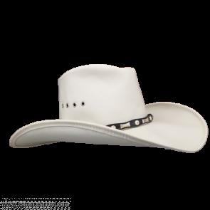 Cappello Bianco in Pelle