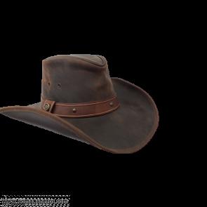 Cappello Cuoio Cowboy Tesa Larga