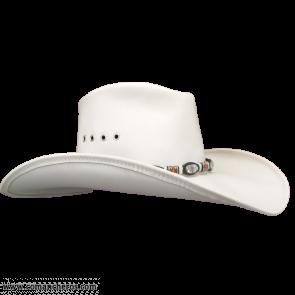 Cappello Pelle Tesa Larga