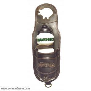 Porta borraccia cuoio da pomolo