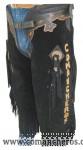 Chaps Chinks in Pelle Scamosciata personalizzata Comancheros